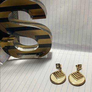 Gold Trifari earrings